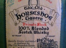 The first custom Scotch label made for Bergin's in 1937