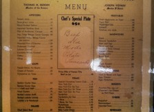 The original 1936 menu