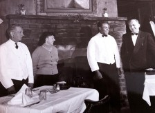 Opening night of the new (current) Bergin's in 1949 - maitre d' Lou Wachter at right, came from the Waldorf to run Bergin's in 1937