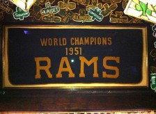 the ORIGINAL 1951 Rams NFL Championship Banner. Only Championship LA ever won